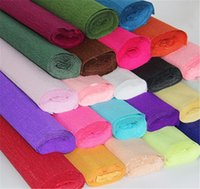 Wholesale 250 cm Roll DIY Flower Gift Decoration Wrapping Packing Crepe Papers Handmade Materials of Crinkled Paper