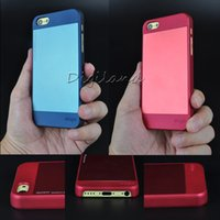 apple sheets - Iphone C Luxury Hard Plastic Matte Frosted Back case assembled with Polished Aluminum sheet three colors Brand New