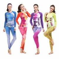 Wholesale New Women s Compression Tops Under Base Layer Long Sleeve Shirts Gym Wear Sports T shirt Running Set XS XL