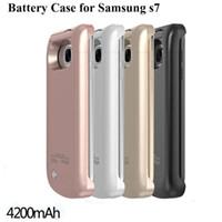 battery pack backup - Power Case S7 S7 edge External Backup Battery Charger Case Portable Power bank Pack Cases For s6 s6 edge BAC024