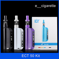 Wholesale ECT box mod electronic cigarettes eT Kit W E cig ml mini fog airflow control mah atomizer e cigarette et50 kit