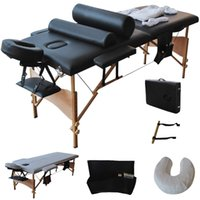Wholesale 84 quot L Massage Table Portable Facial SPA Bed W Sheet Cradle Cover Pillows Hanger HB79184BK
