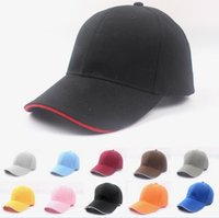 advertising baseball - HOT Solid color baseball cap autumn and winter outdoor advertising cap cap hip hop hat golf sports cap multicolor