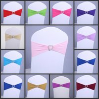 Wholesale New Arrivals Chair Cover Sashes Elastic Sash Chair Covers for Weddings Colors Spandex Sashes for Chairs Banquet Accessories