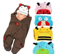 Wholesale Newborn Baby Sleeping Bags Cashmere Fabric Winter Receiving Blanket Toddler Envelope Designs Wrap Clothing