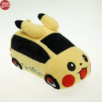 5-7 Years Unisex Video Games New Pikachu Car Plush Baby Dolls Cute Vehicle Game Toy 17cm Plushie Kawaii Gift For Kids Birthday Christmas Brinquedos
