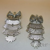 Wholesale Jewelry Accessories Diy Manual Alloy Necklace Pendant Accessories Charms The owl x45mm