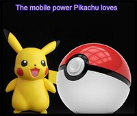Wholesale Pokeball For Poke Go Toy Power Bank mAh Portable Charger External Battery Ball USB Powerbank For iPhone Phones With LED Light