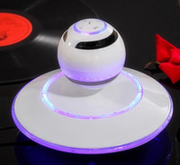 Wholesale Magnetic levitation stereo wireless bluetooth stereo Mini cell phone computer speakers fashion high end gifts
