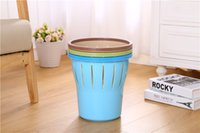 trash can - Paper basket plastic trash can kitchen toilet trash can garbage can find creative wheel
