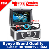 Wholesale Eyoyo Original M Professional Fish Finder Underwater Fishing Video Camera quot Color Monitor TVL HD CAM pc Infrared lights