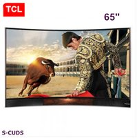 Wholesale TCL inches Curved surface EDITION high color gamut true K Ultra HD smart TV stereo base LCD TV