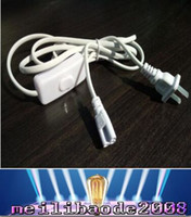 Wholesale NEW LED tube Plugs Power Cable T5 T8 Three plug wire USA Standard M