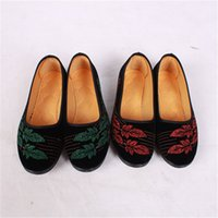 Wholesale Thomas style New ladies shoes The traditional Beijing shoes Canvas shoes with soft soles Flat bottom shoe Light and breathable