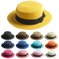 Wholesale customized straw boater hat for sea travelling sea hat boater caps hand made straw hats