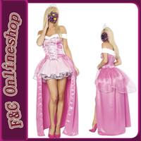 adult pink princess dress - SALE costume cheap women sexy off shoulder pink princess costume sexy adult princess fancy dress with