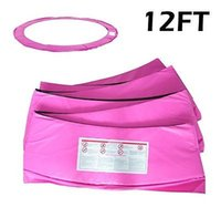 Wholesale 12ft Trampoline Replacement Protection Frame Safety Cover Pad Pink