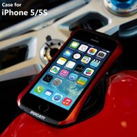 aluminum motorcycle cases - New DRACO DUCATI Ventare Deff CLEAVE Motorcycle Racing Design Aviation Aluminum Bumper Metal Case for iPhone S
