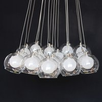 ball fittings - Creative Clear Glass Bubble LED Pendant Lamps Glass Ball Chandelier Lights Living Room Office Light Fittings