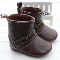 baby crib shoes sale - 2016 Hot sale Baby Shoes Infants PU leather Boots Toddler Boy Wool Snow Crib Shoes Winter Booties