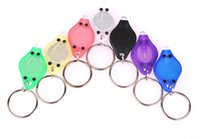 Wholesale 395 nm Multicolor UV LED Keychain Money Detector led light protable light Keychains Car key Accessories DHL Ship