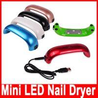 Wholesale Mini LED Nail Dryer Nail Dryers Nail Art Lamp UV Light for Nails W LED Light Curing Nail Dryer Machine Hot
