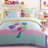 beautiful collection cottons - 2016 Korea Beautiful Embroidery Bedding Sets American Wedding Cotton Home Textiles High Quality Home Collection Queen King Size