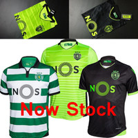 Wholesale Free ship TOP Best thailand qualit Sporting jersey green black home away third Adult JERSEY