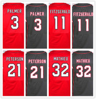 Wholesale Best quality jersey Men s Carson Palmer Larry Fitzgerald Patrick Peterson Tyrann Mathieu elite jerseys Red and Black