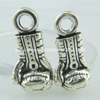 antique boxing gloves - 14918 Antique Silver Sports Boxing Gloves Cross Burden of Proof Pendant