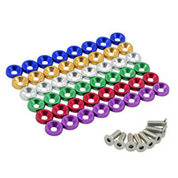 Wholesale HOT Universal JDM Style Fender Washers Bumper Washer Lisence Plate Bolts Kits for CIVIC ACCORD