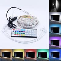 backgrounds desktop - 5V USB LED Strip Light M x0 M SMD TV Backlight Background Lighting With key RGB Controller For TV Computer Desktop Laptop