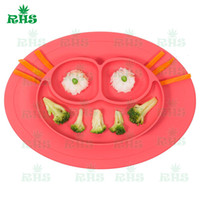 baby health food - LFGB approval health one piece baby feeding silicone placemat plate food grade silicone food bowl for child