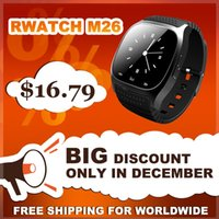 Wholesale Rwatch M26 Smart Bluetooth Watch Smartwatch M26 with LED Display Barometer Alitmeter Music Player for Android IOS Mobile Phone