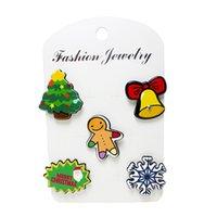 Venta al por mayor broche de árbol de Navidad broches de boda Collar clip bufanda hebilla accesorio de moda joyería resina broches mejor regalo para las mujeres