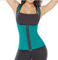 Wholesale 8003 Women s Body Shaper Sport Weight Loss Tank Top Neoprene Waist Trainer Workout Waist Cincher Gym Slimming Waist Training Corsets