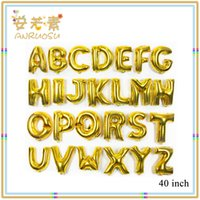 Wholesale 40inch Gold Letter Helium Party Balloons With Aluminum Coating for Christmas Hangzhou toys