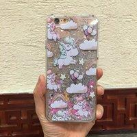 art prints horses - Mobile Phone Case Glitter PC Plastic Horse Cover Art Printed Clear Back Case For iPhone S SE S Plus