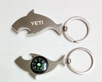 Wholesale 2016 new hot selling YETI opener dolphins and sharks guitarist wire opener stainless steel bottle opener key shape