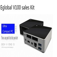 Wholesale High Grade V100 Nuc GB Ram GB SSD Windows TV Player Mini PC Intel Core i7 U Max GHz Mini Computador DHL