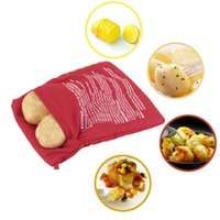 baked red potatoes - 150pcs NEW Red Washable Cooker Bag Baked Potato Microwave Cooking Potato Quick Fast cooks potatoes at once hot selling ZA0478
