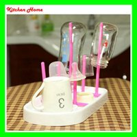 baby shelf - Useful Baby Feeding Bottle Dryer Rack Simple Cleaning Drying Rack Shelf Detachable Kitchen Feeding Holder Kitchen Tools