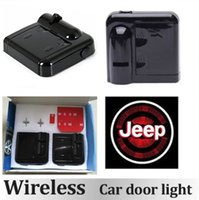 Wholesale 1Pair Wireless Led Car Door Light Projector Lights Auto Welcome Logo Shadow Lamp Jeep Car Logo Ghost Shape Laser Projection Welcome Light