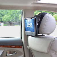 angle dvd - TFY Universal Car Headrest Mount Holder with Angle Adjustable Holding Clamp for Swivel Screen Portable DVD Players Black