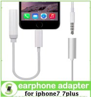 Wholesale Earphone Adapter Cable For IPhone iphone7 Plus Headphone AUX Connector Male To mm Female Earphone Headset Converter Cord