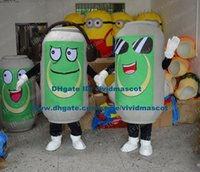 beer can costume - Vivid Gray Beverage Beer Zip top Can Pop top Can Ring pull Can Beverage Can Mascot Costume Cartoon Character Mascotte NO FS