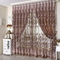 bedroom hooks - 2015 New Arrival Ready Made Luxury Curtain For Living Room Bedroom Tulle Thick Curtains Purple Brown