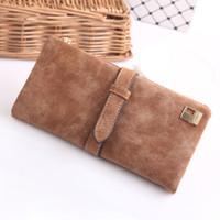 Wholesale Womens Clutch Designer Wallets Famous Brand Women Wallet Nubuck Leather Belt Ladies Portfolio Female Vintage Purses