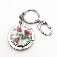 Wholesale 10 Key Ring Handbag Hook Zinc Alloy Crafts Bag Hanger Key Chain Foldable Bag Hook Holder Restaurant Luggage