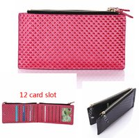apple clutch bag - 12 Cards Slot Multifunction Leather Men Women Wallet Clutch carteras Money Clip Zipper Male Female Bag Purses Universal Mobile phone purse